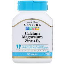 21st CENTURY CALCIUM MAGNESIUM ZINC +D3 CAPS